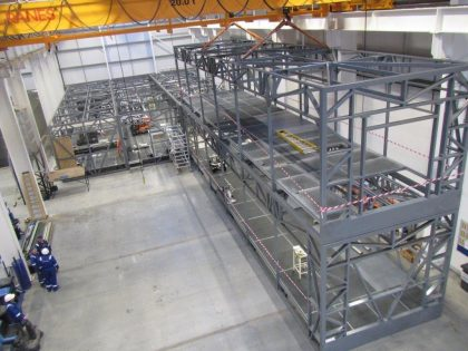 Off-site construction of the module frames