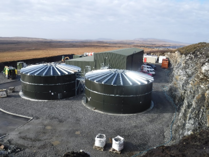 The Lochmaddy WTW (Water Treatment Works) nearing completion.