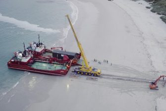 North Harris Wtw Unloaded By Crane On Beach
